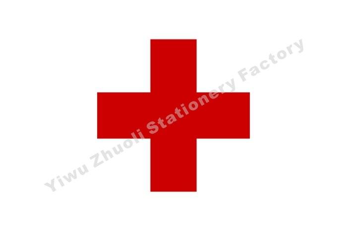 Bandera de Cruz Roja de 150X90cm (3x5 pies) 120g 100D de poliéster, cosida doble, de alta calidad, Envío Gratis