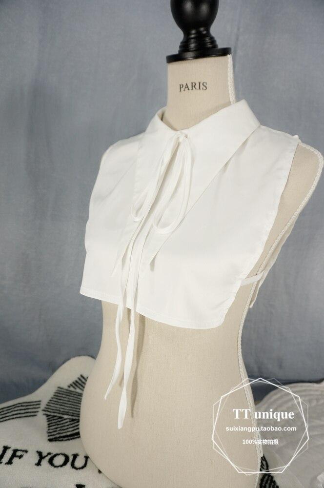 Newly Design Fashion Women Women Lace Hook Vintage Solid Detachable Vertical Lapel Corduroy Fake Collar Bottom Warm Winter