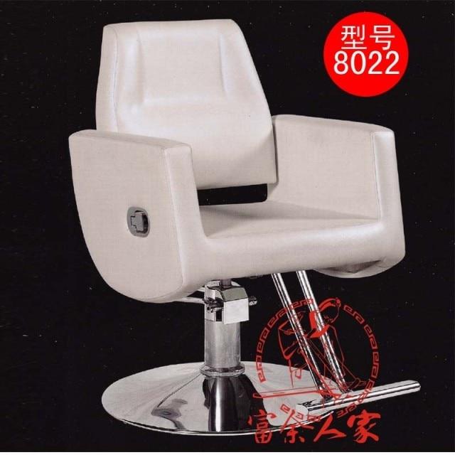 Y8022 can lift European beauty salon haircut stool. Hydraulic shaving extend down the chair