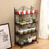 wrought iron multi layer railings floor stand balcony bonsai plant stand rack