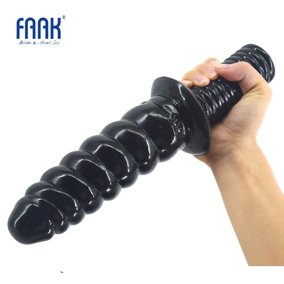FAAK-قضيب اصطناعي طويل بمقبض لولبي ، قضيب اصطناعي مزيف ، صندوق حري ، ألعاب جنسية ، قابس شرجي ، مثلية ، الاستمناء
