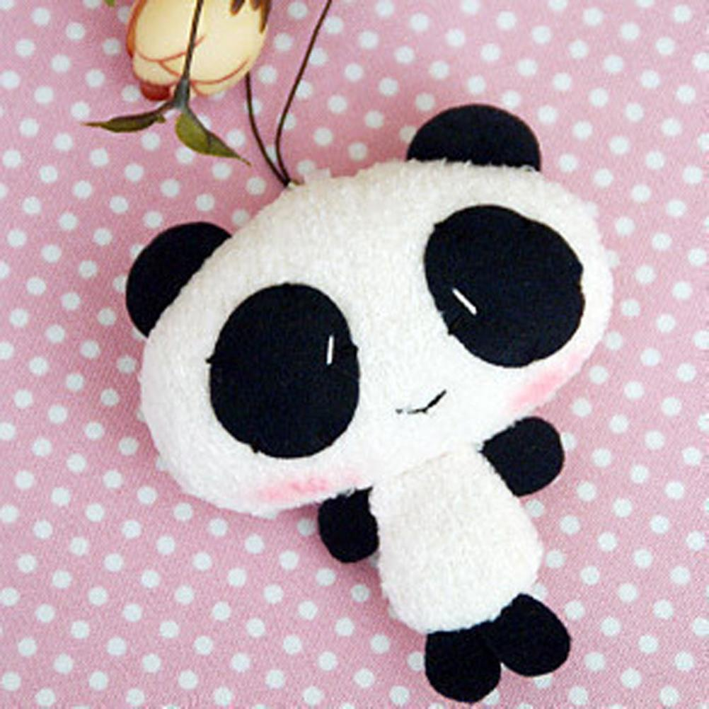 Pelo bonito dibujos animados de Panda Kawaii, regalo de regalo, amuletos Panda Kawaii, llave de teléfono/colgante de correa para bolsa 1 unidad