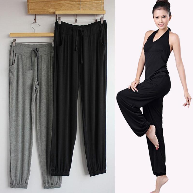2019 gran oferta mujeres Modal Yoga pantalones sueltos de gran tamaño Delgado Pantalón deportivo Casual 19ing