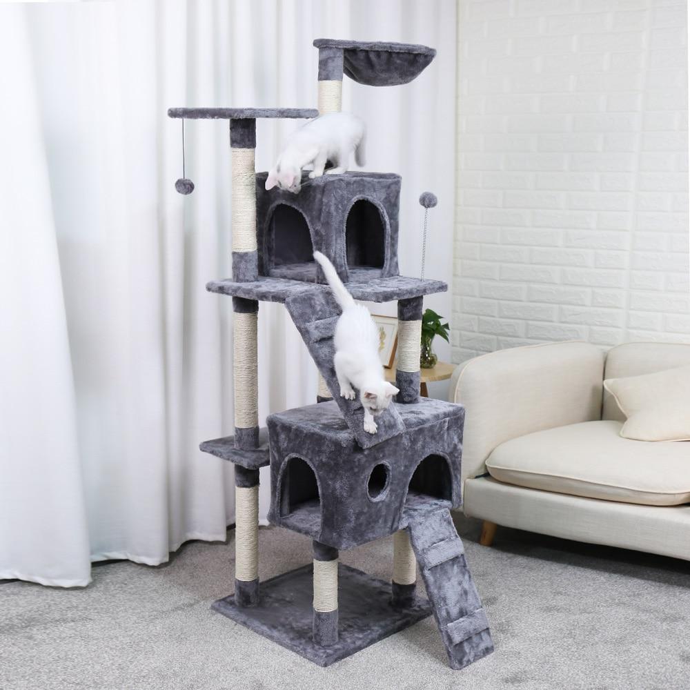 Кошка дерево башня мебель котенок игровой домик сизаль покрытые когтеточки перчи платформы лестница с когтеточкой