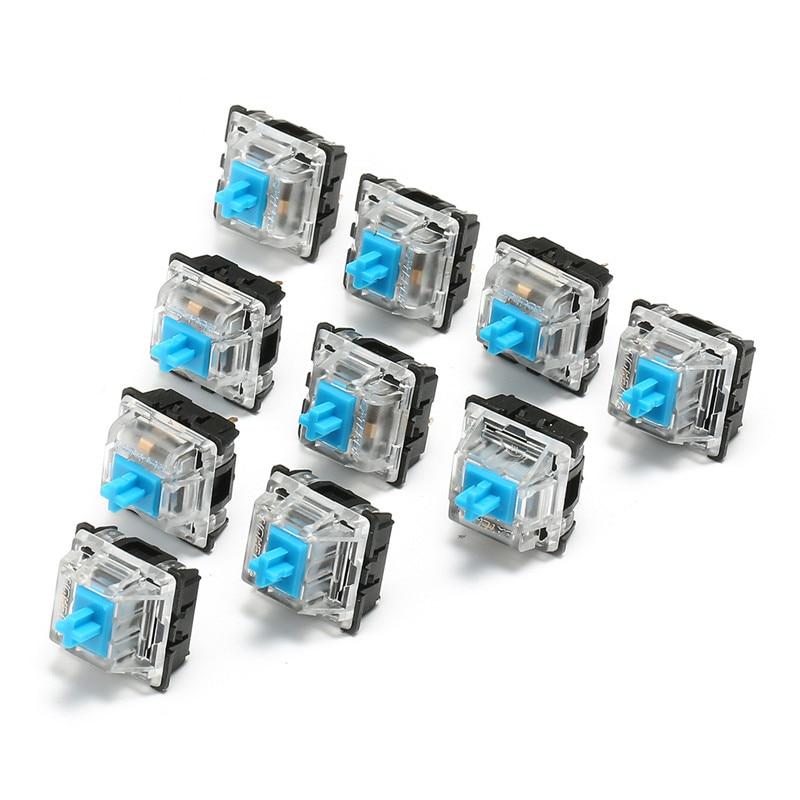 10 шт. клавиатура KeyCaps 3 Pin USB проводной механический переключатель синий для Gateron для Cherry MX переключатель клавиатура Пробник Тестер Комплект