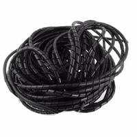 Tube enroule en spirale noir  3mm x OD 4mm 33FT  10m   fil enroule  PC  Home cinema  TV  Kit dorganisation