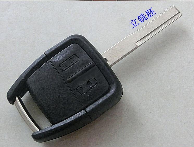 2 botão remoto chave caso escudo para opel astra zafira omega vectra com hu43 lâmina fob chave capa 50 pçs/lote