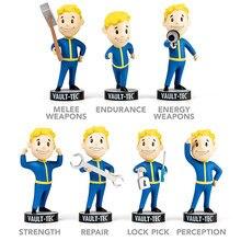 Fallout 4 coffre-fort garçon têtes de jeu fallout 4 jouets Bobbleheads PVC figurine jouet pour enfant cadeau danniversaire poupée brinqudo