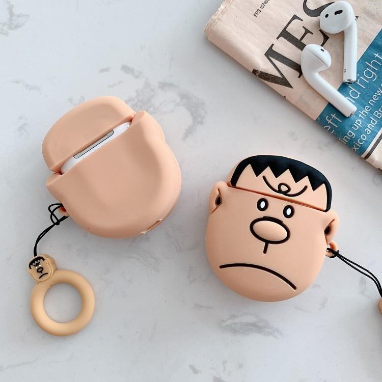 3D de dibujos animados lindo de silicona Gran G gigante Konta Takeshi estuches para auriculares para los Airpods de Apple 1 2 Protección auriculares accesorios de la cubierta