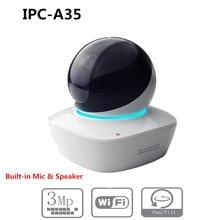 DH-caméra IP Wifi sans logo   3 mp, IR10M de Distance, MIC & SPK intégré avec fente pour carte SD, PTZ, mini caméra IP dôme sans logo