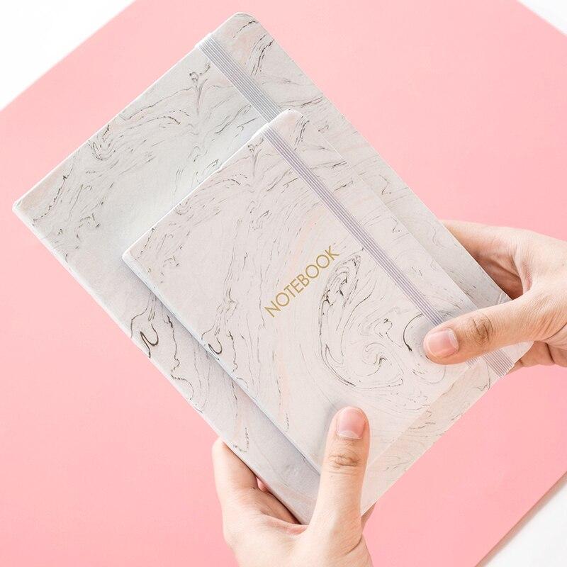 Papelería japonesa mármol diseños cuaderno tapa dura A6 A7 planificador Bloc de notas agenda Escolar suministros de oficina Escolar
