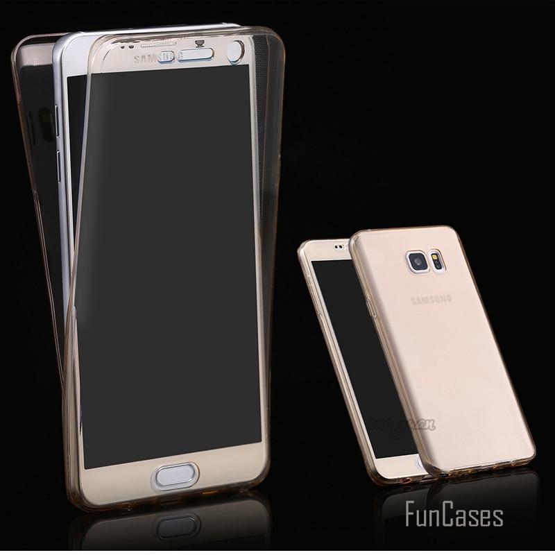 S7/S7 Edge прозрачный гибкий мягкий ТПУ чехол для samsung Galaxy S7 Edge 360 градусов Полная защита тела чехол для телефона s Аксессуары