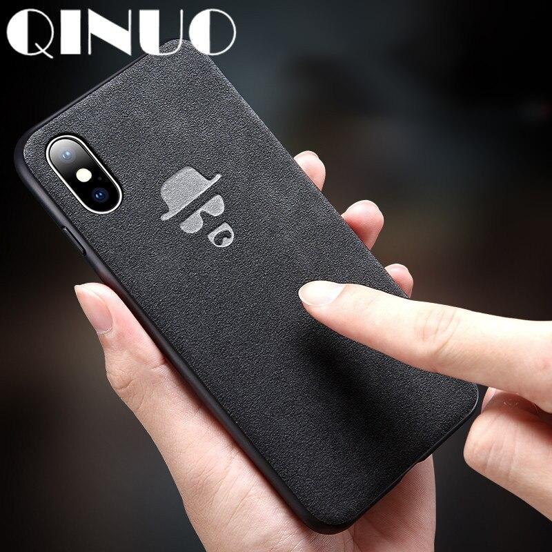 QINUO, funda de ante con LOGO de Batman para iPhone XS Max XR 6X6S 7 8 Plus, funda bonita de piel de Mago para teléfono Kilifi