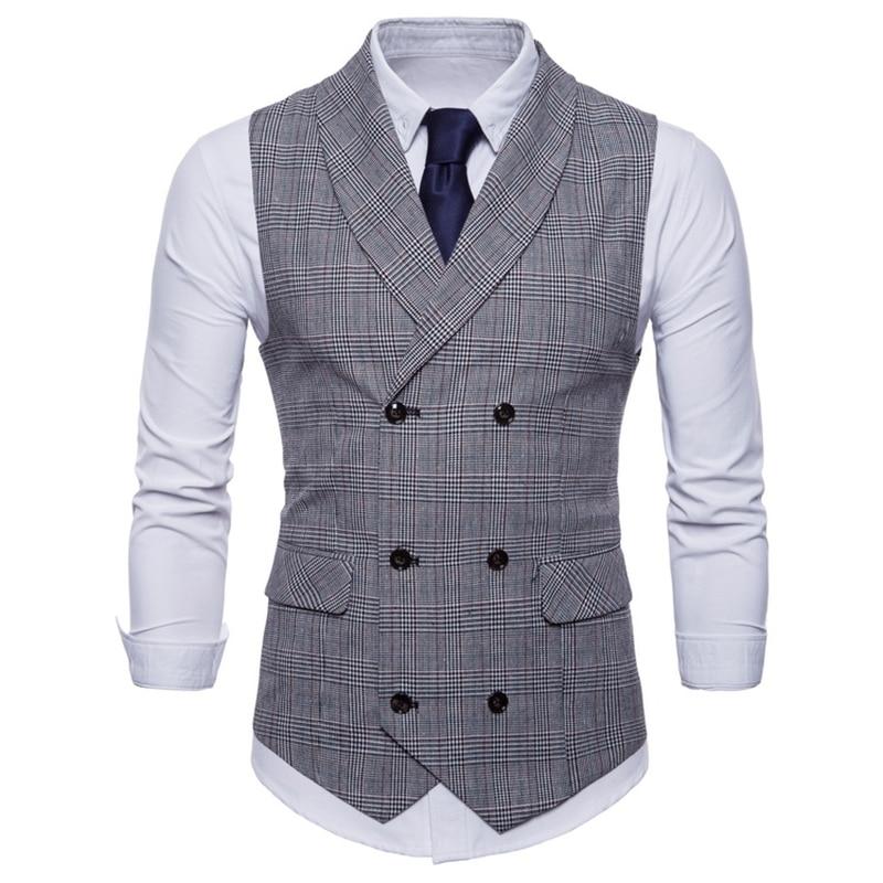 Spring Business Vest Men's Clothing Male Autumn Jacket Casual Men England Suit Vest With Pockets Vest Outerwear Chaleco Hombre