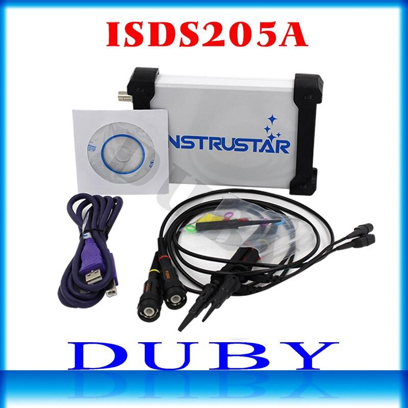 MDSO ISDS205A nueva actualización 3 en 1 multifuncional 20M PC virtual USB osciloscopio Digital + analizador de espectro + grabadora de datos