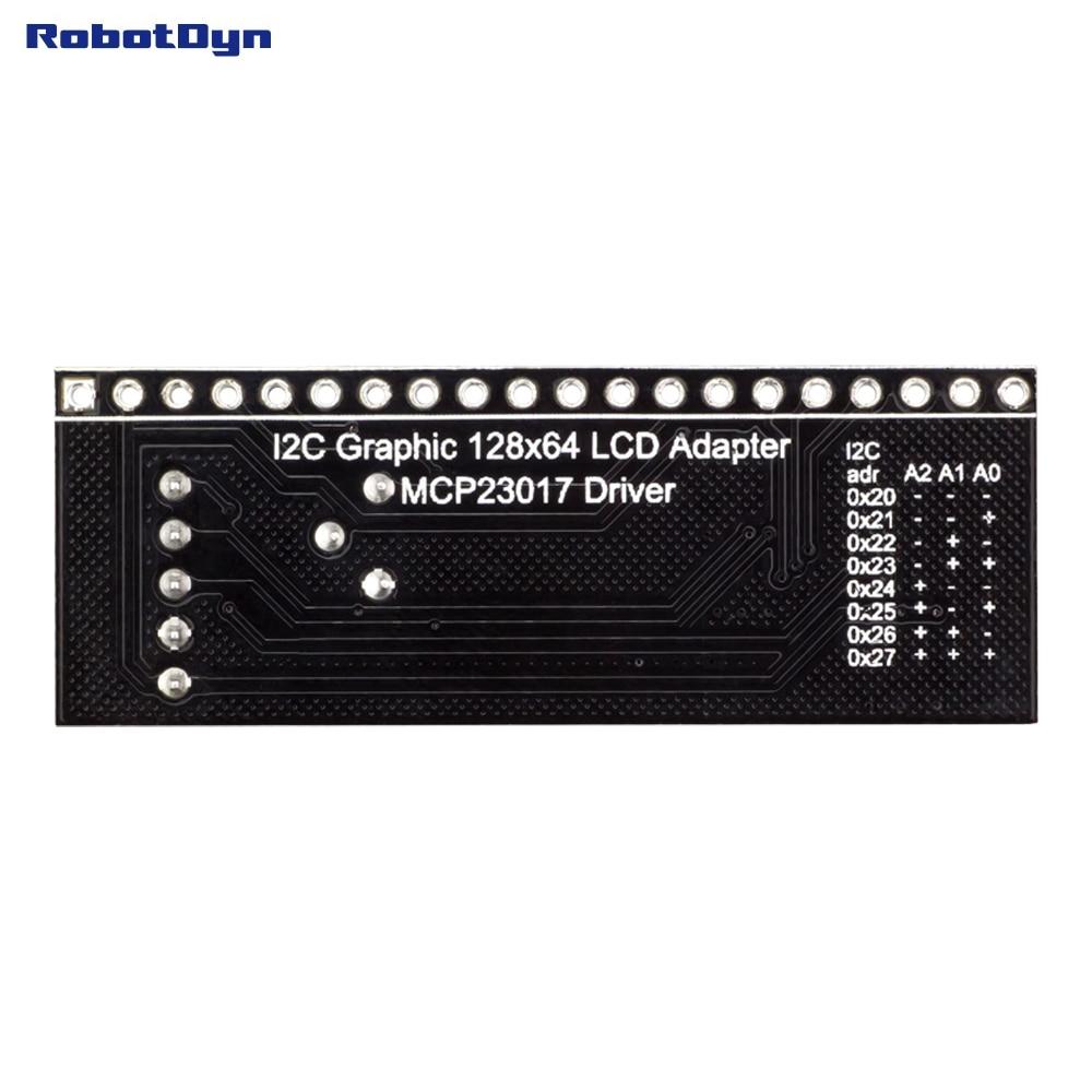 Grafik LCD 12864 adapter modul zu I2C. Fahrer MCP23017 expander. 5V