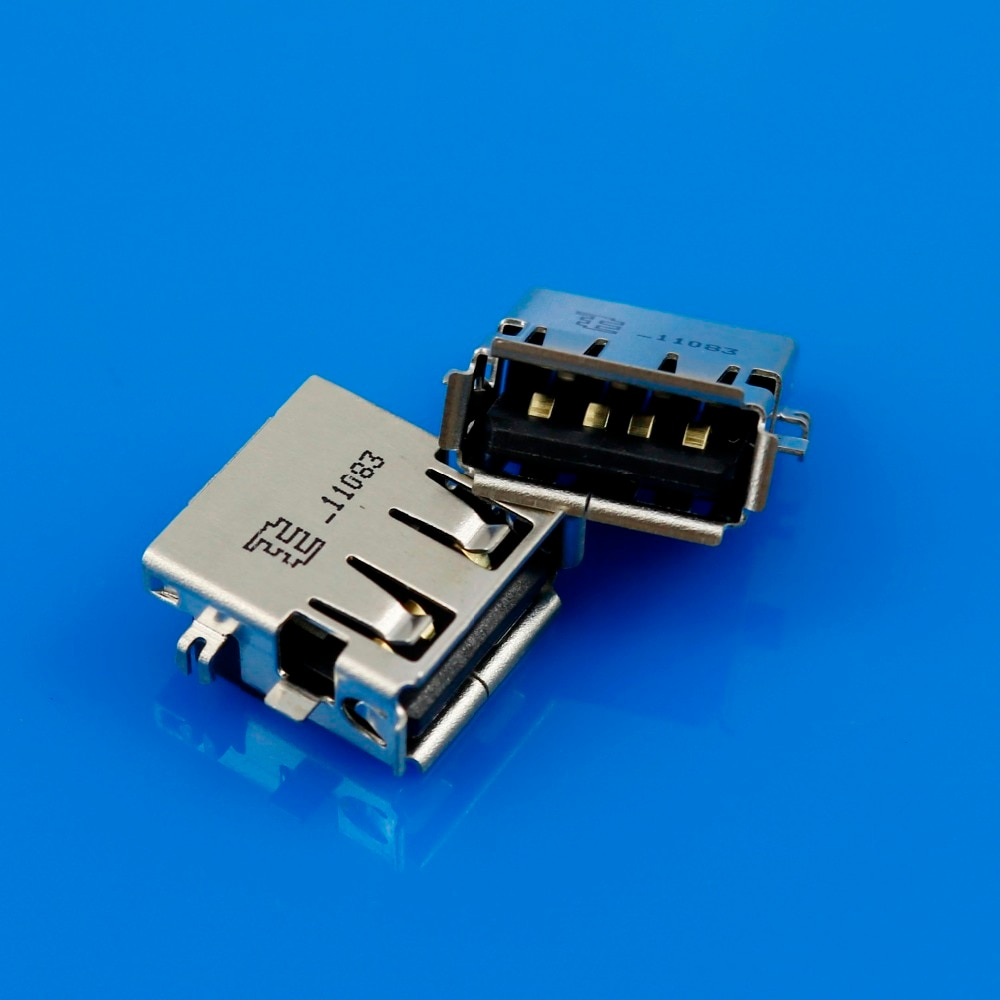 NEW USB female jack connector 2.0 USB Port for Laptop for Lenovo for Asus etc Copper Down US-200