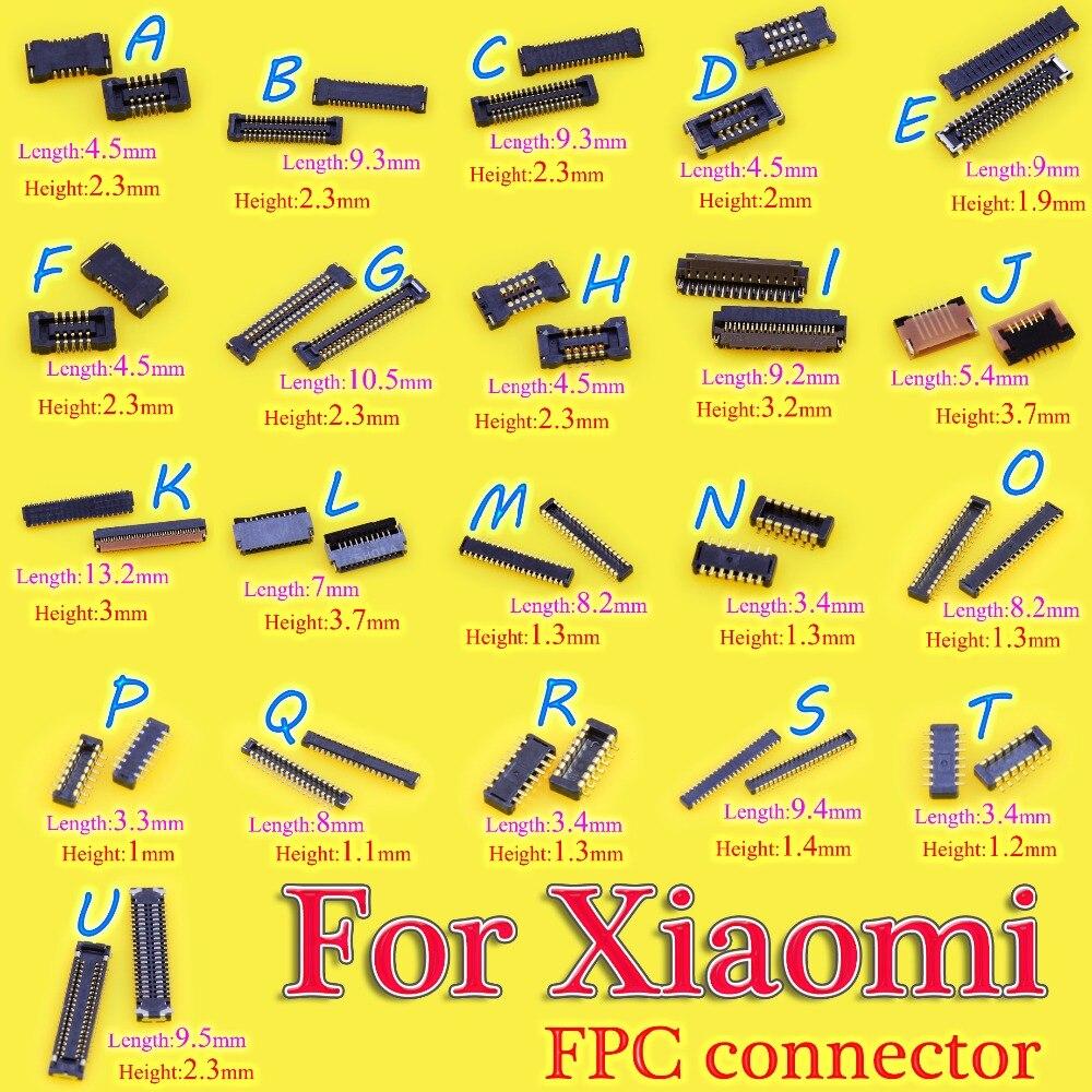 2 uds nuevo conector LCD FPC/Touch placa FPC conector/conector de placa FPC para Xiaomi/2/3/4/nota Redmi Note