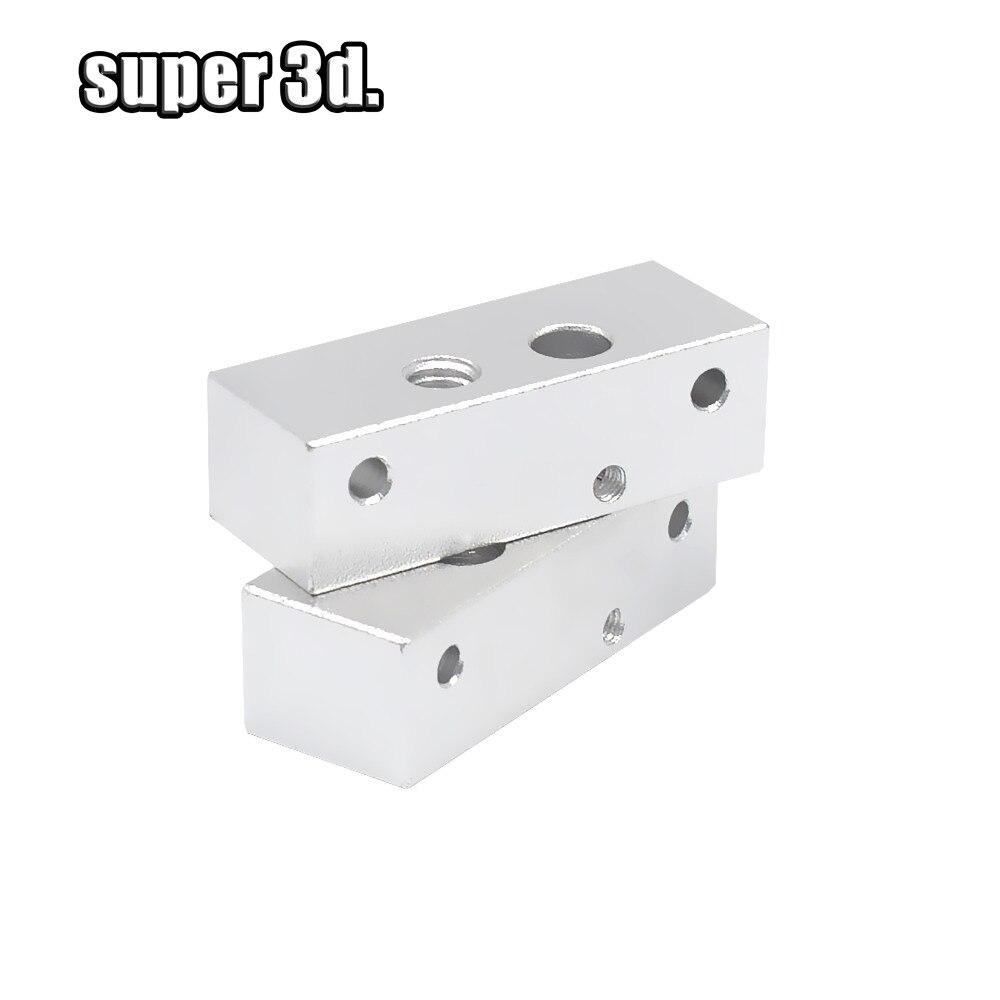 Piezas de impresora 3D MK bloque fijo de aluminio de un solo cabezal para extrusora de impresora 3D