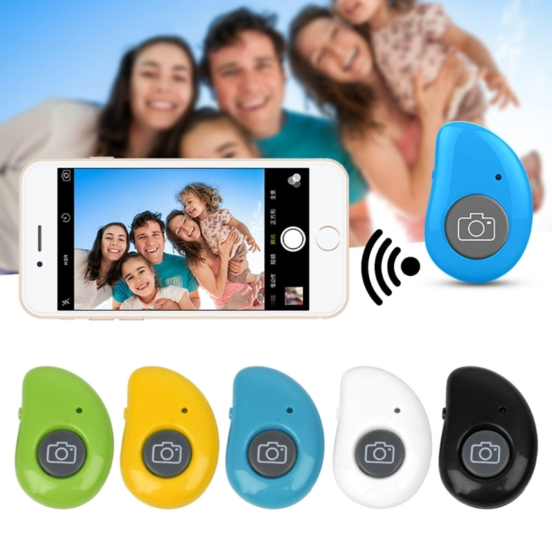 Obturador, Bluetooth, inalámbrico, disparador Selfie, Bluetooth, botón de Control remoto para Smartphone, Tablet, PC