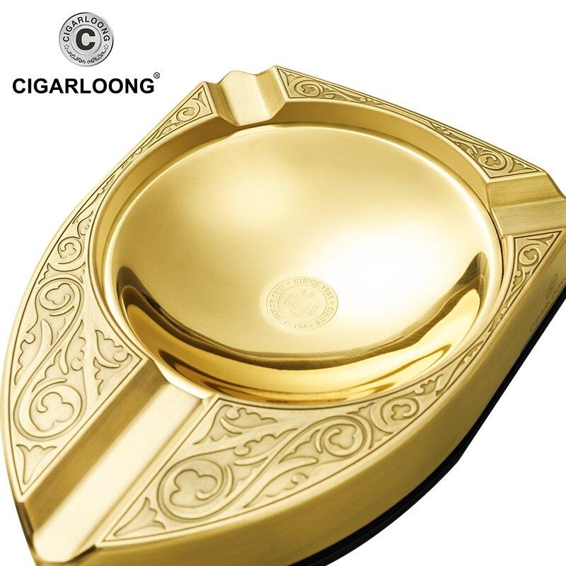 CIGARLOONG metal large diameter smoke trough cigar ashtray CC-CE0002 enlarge