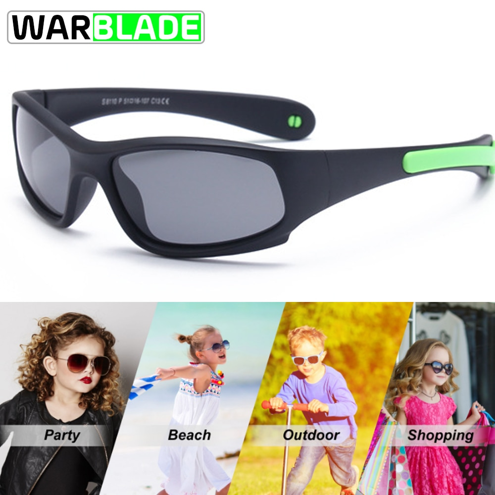Kids Sport Cycling Fish Sunglasses Polarized Anti UV Protection Eyewear Child Polaroid Sun Glasses G