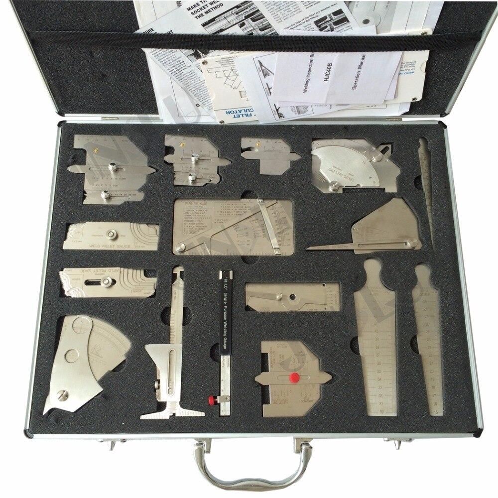Сварочный измеритель, сварочные измерительные приборы, 16 комплектов, сварочные измерительные инструменты, комбинированный комплект