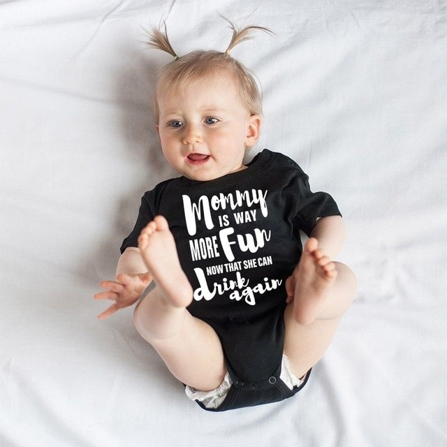 DERMSPE Summer 2019 Toddler Baby Girls Boys Romper With short sleeves Letter printed Jumpsuit Outfits Sunsuit Clothes Playsuit 6