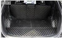 special car trunk mats for hyundai santa fe 7 seats 2017 2013 durable cargo liner boot carpets for santafe 2015free shipping