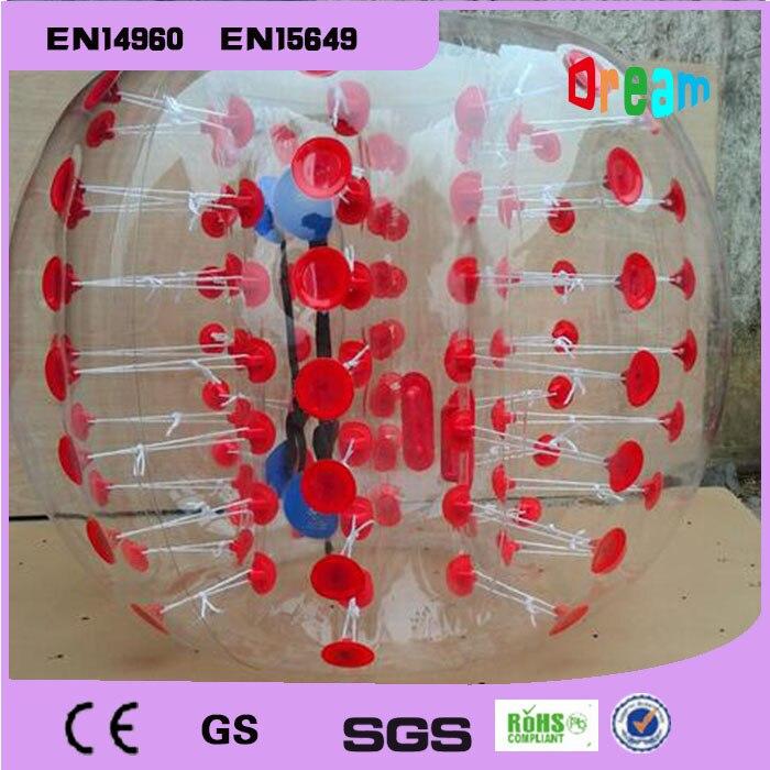 8 bolas 1,5 m y 4 bolas 1,2 m con 2 bombas burbuja inflable balón de fútbol burbuja pelota de choque de fútbol 1,0mm Material TPU