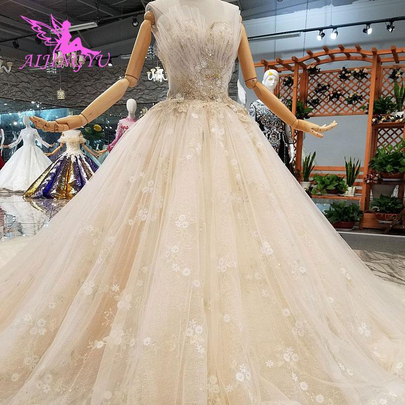 AIJINGYU 2019 vestidos de novia gótico de la boda de la tienda coreana foto Real de Bielorrusia para la venta de vestido de salida blanco nuevo vestido