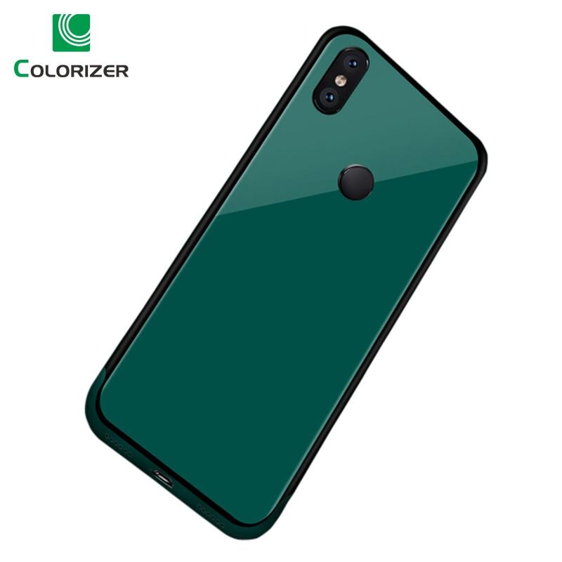 Funda de vidrio templado para teléfono para Xiaomi mi X3 mi X 3 2 2S mi 8 8SE Note3 casos carcasa trasera de vidrio borde suave de TPU Cove para mi 6 Redmi 5 S2