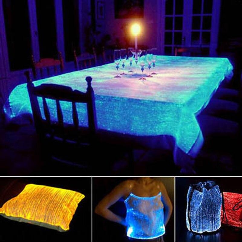 Christmas RBG FABRIC LED Night Party luxury fun fibre optics material Led textiles optical cable fibre optic star light fabric