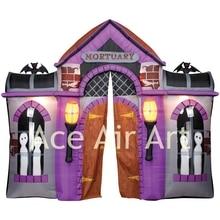 Arc gonflable de type maison hantée happy Halloween   Pour décoration avec éclairage