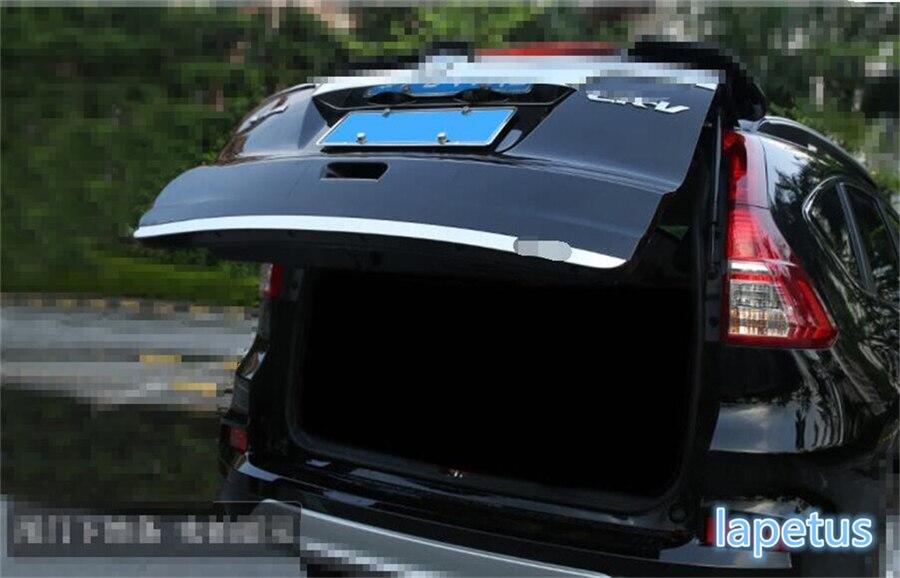 Para Honda CRV CR-V 2013-2016, acero inoxidable, cromo, tapa trasera del maletero, moldura de tapa, embellecedor de serpentina, 1 unidad
