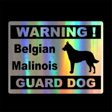 Car Styling Personality Warning Belgian Malinois Guard Dog Car Stickers Black/Sliver/laser 13.5cm*10.3cm