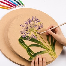 Eval Kreative Runde 200g 50 Pcs Weiß Schwarz Skizze Aquarell Zeichnung Papier Für Kunst Papier Briefpapier mit Freies Farbige bleistifte