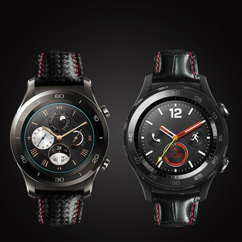 Pulseira de Couro Carbono para Huawei Pro para Samsung Genuíno Fibra Assista 2 Engrenagem s3 s2 Clássico Melhor Qualidade Relógio 20mm 22mm