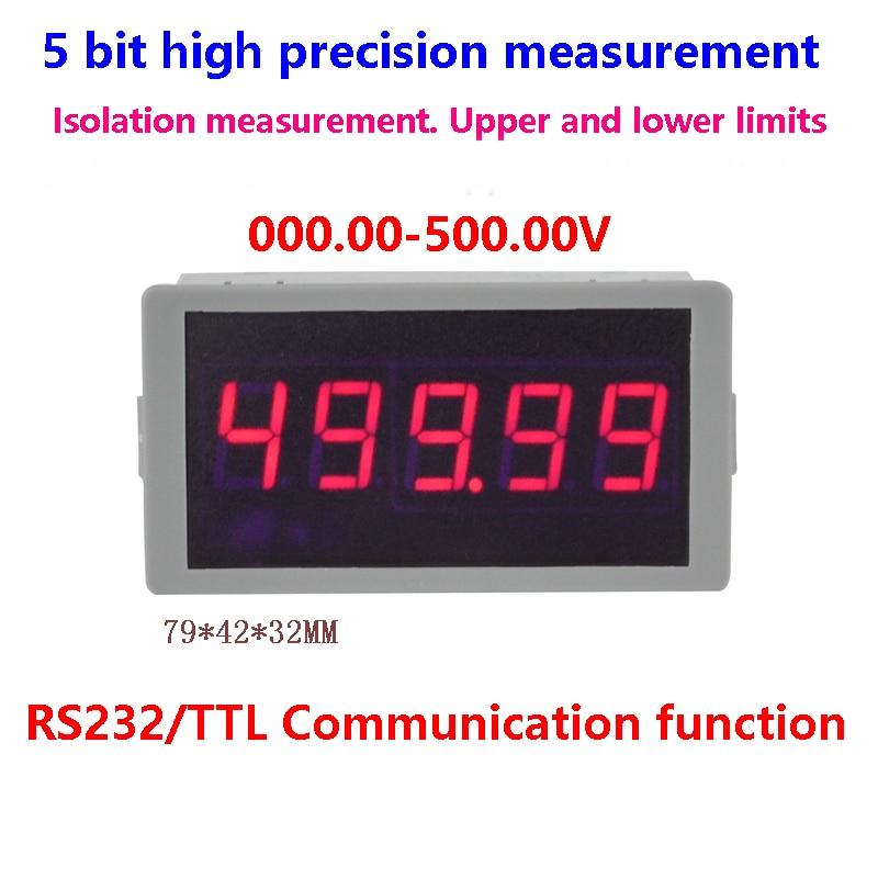GWUNW BY56W  DC 500.00V(500V) 5 bit high precision Voltmeter RS232 Serial Communication alarm signal Voltage Tester Meter
