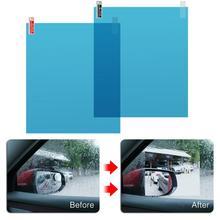 2 pièces/ensemble de films de protection   Film Anti-brouillard deau, Film imperméable à la pluie pour fenêtre, autocollant souple universel, accessoires Auto 175*200MM