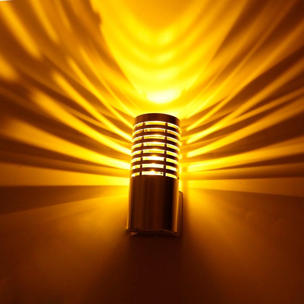 3W LED Wall Lamp Light Sconce Aluminum Lampshade Elegant Modern AC85-265V Wall mounted 8 Color Hall Porch Bulb KTV Home decor UR