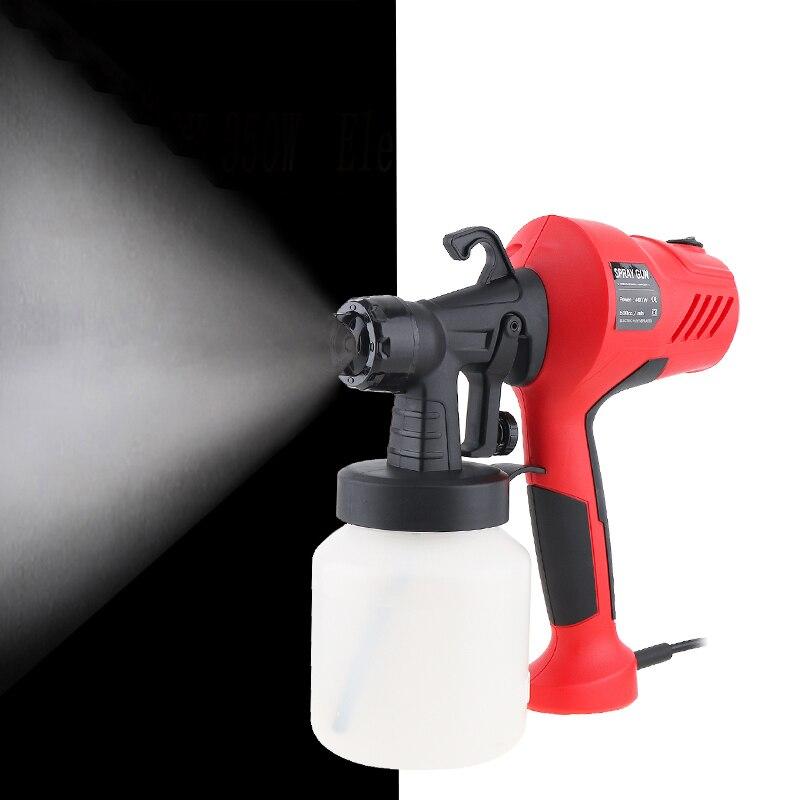 220 V 400W PISTOLA DE PULVERIZACIÓN eléctrica HVLP pulverizador de pintura compresor con Control de flujo ajustable