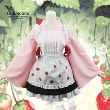 Женский костюм для косплея Sakura, костюм для косплея из аниме «клубника»
