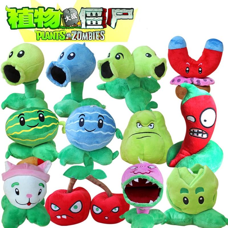 12 teile/los Pflanzen vs Zombies Plüsch Spielzeug PVZ Plants Peashooter Chomper Rohrkolben Plüsch Spielzeug Puppe für Kinder Geschenke Party spielzeug
