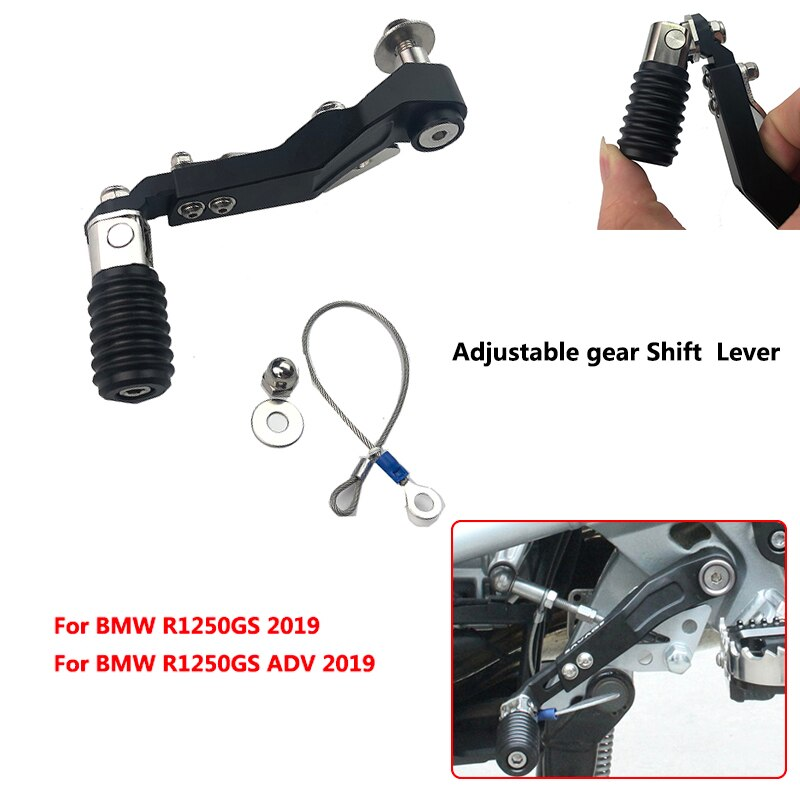 2019 R1250GS de la motocicleta CNC de aluminio ajustable palanca de cambio de marchas plegable cambio palanca tipo pedal para BMW R1250 GS/R1250GS ADV-aventura