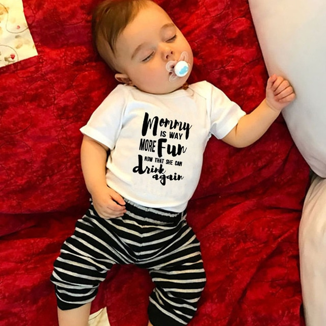 DERMSPE Summer 2019 Toddler Baby Girls Boys Romper With short sleeves Letter printed Jumpsuit Outfits Sunsuit Clothes Playsuit 8