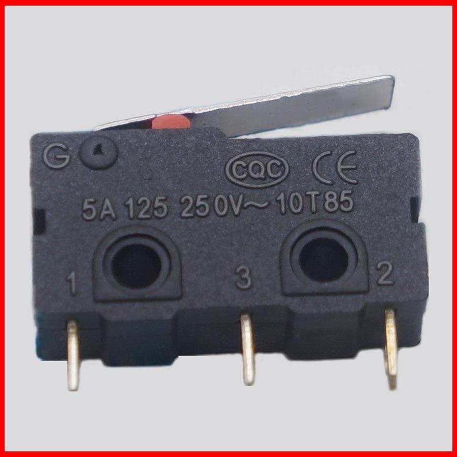 10 шт., 10 шт., концевой выключатель, 3pin N/O N/C, 5A250VAC, микропереключатель, мини-микро-переключатель, оригинальный, распродажа