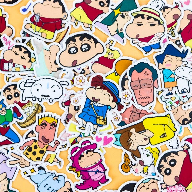 46pcs-sveglio-creativo-self-made-crayon-shinchan-2-scrapbooking-stickers-adesivo-decorativo-fai-da-te-album-di-foto-adesivi-di-carta