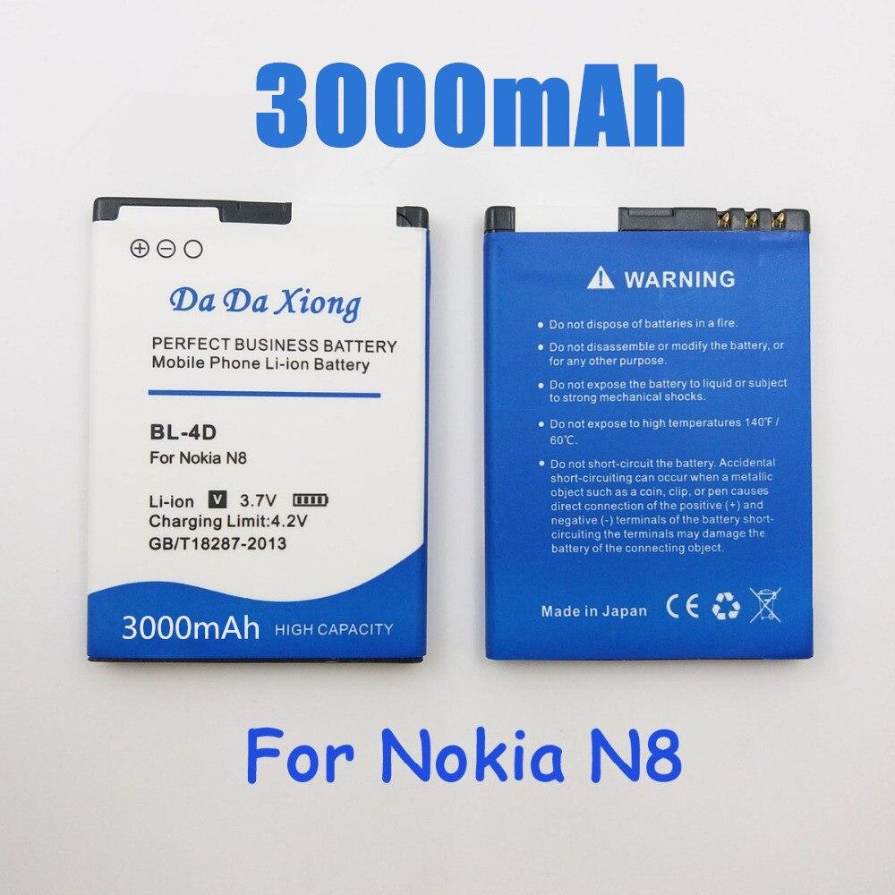 3000mAh BL-4D BL4D Li-Ion de la batería del teléfono para Nokia N97 mini N8... E5-00 E5 E7 T7 803 N803 702T