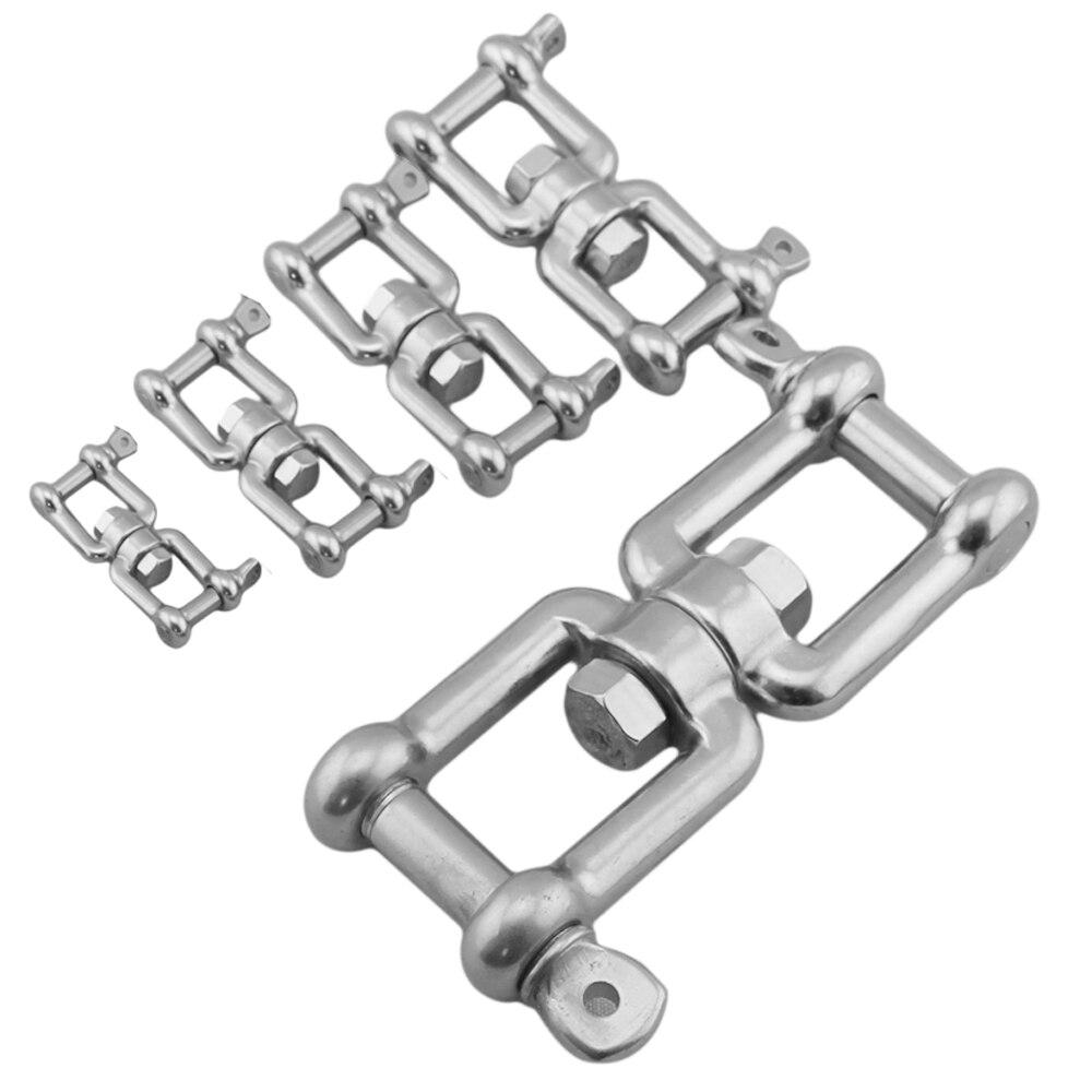 1 шт. прямая звеньевая цепь из нержавеющей стали, универсальная поворотная цепь, кольцо для слинга, перекрещивание, такелаж
